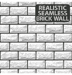 Realistic seamless texture of white brick wall vector image vector image