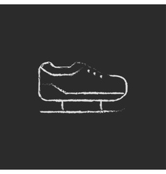 Skate icon drawn in chalk vector image vector image