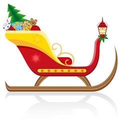 Christmas santa sleigh 01 vector