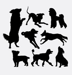 Dog pet animal silhouette 6 vector image