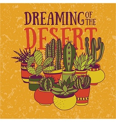 Dreaming of the desert vector image