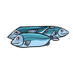 fish food vector image