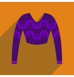 Flat icon with long shadow women sweater vector