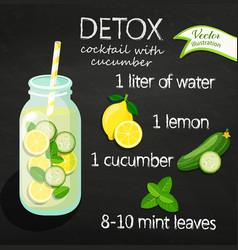 recipe detox cocktail vector image vector image