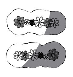 sticker monochrome minimalistic background with vector image vector image