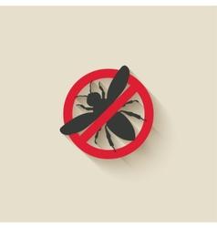 wasp warning sign vector image vector image