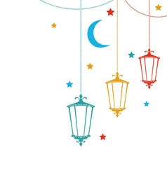 Celebration Cute Card for Ramadan Kareem vector image