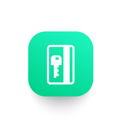 Electronic pass card key icon vector