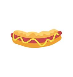 hot dog street food poster vector image