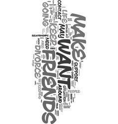 your friends can help text word cloud concept vector image vector image