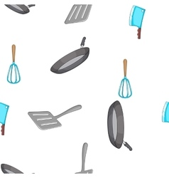 Kitchen pattern cartoon style vector image