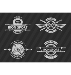 Set of sports emblems logos symbols vector image vector image