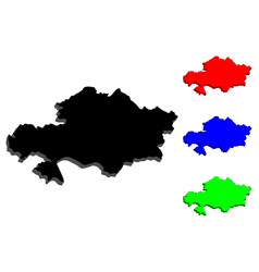 3d map of kazakhstan vector image