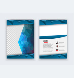 abstract flyer design background brochure flyer vector image