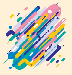 Abstract modern style with composition made vector