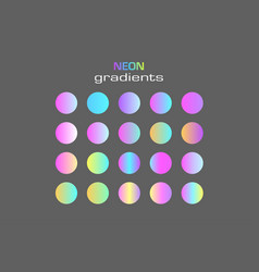 abstract sphere neon colors gradients isolated vector image