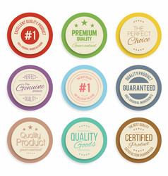 badges and labels collection quality assurance vector image