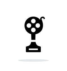 Best film simple icon on white background vector image