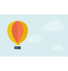 Big hot air balloon vector image