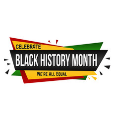 Black history month banner design vector
