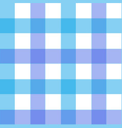blue gingham pattern texture from rhombus squares vector image