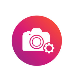 Camera repair service icon vector