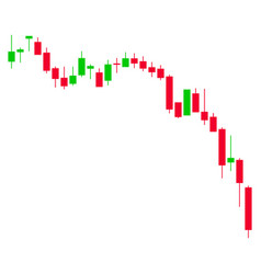 Candlestick chart down flat icon vector