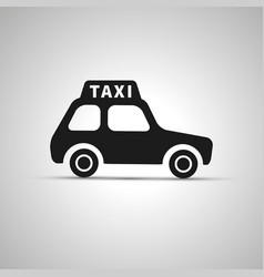 car taxi silhouette side view simple black icon vector image