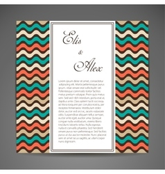 Card or invitation vector image