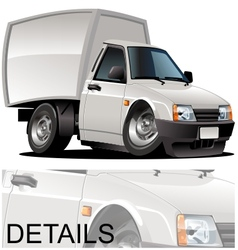 cartoon delivery pickup vector image