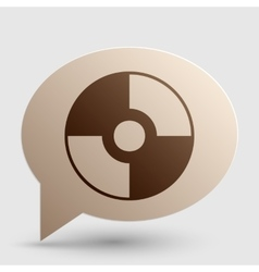CD or DVD sign Brown gradient icon on vector image