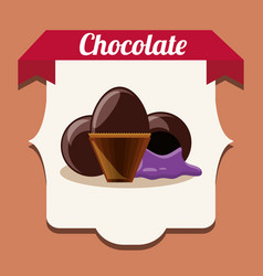 chocolate candies design vector image
