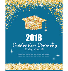 class of 2018 graduation ceremony banner vector image