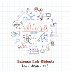 Collection hand drawn doodle science vector