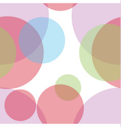 Colorful abstract circles seamless pattern vector