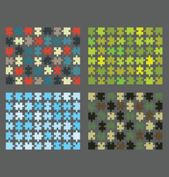 colorful shiny puzzles vector image