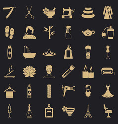 cosmetic icons set simple style vector image