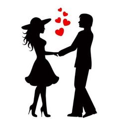 couple people in love vector image