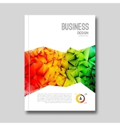Cover Report Business Colorful Triangle Polygonal vector