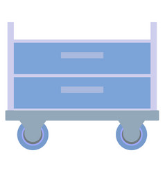 Doctor office furniture hospital trolley or cart vector