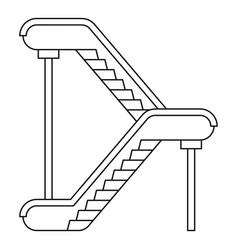Double escalator icon outline style vector
