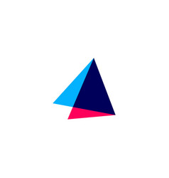 Double triangle overlapping logo icon vector