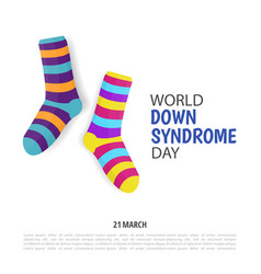 Down syndrome day vector