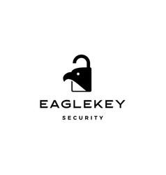 Eagle key bird logo icon vector