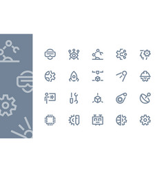 engineering and technology icons line series vector image