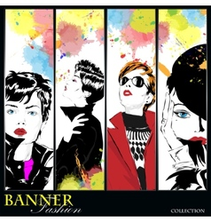 Fashion banner vector