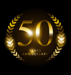 fifty years anniversary vector image