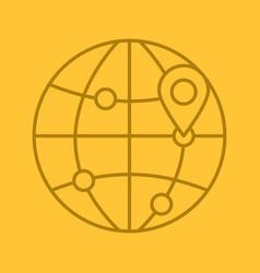 flight destinations linear icon vector image