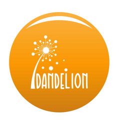Forest dandelion logo icon orange vector