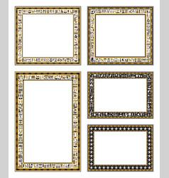 Frames ancient egyptian motif vector